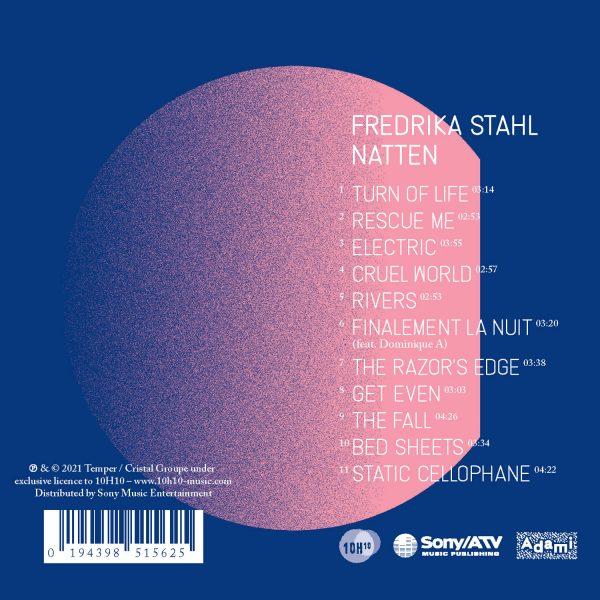 10H33 - 0194398515625 - Fredrika Stahl - Natten - CD - BACK