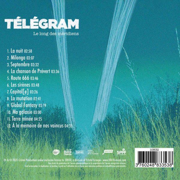 10H32 - 3760248833538 - Télégram - Le long des méridiens - CD - BACK