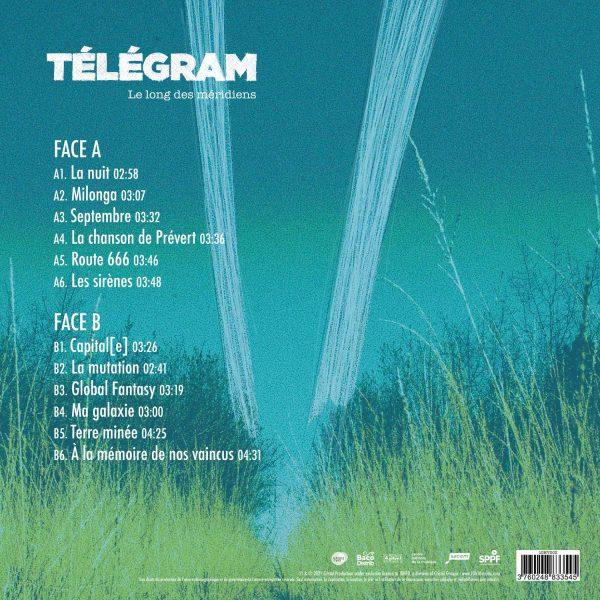 10HV002 - 3760248833545 - Télégram - Le long des méridiens - Vinyle - BACK